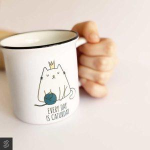 taza regalo con gato