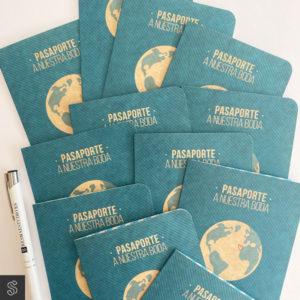 Invitaciones tipo pasaporte