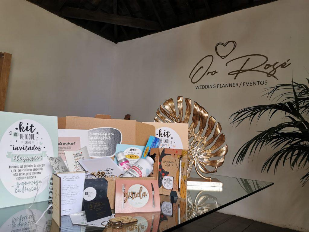 Fotos de nuestra Caja de Bodas Wedding Mail por Oro Rosé