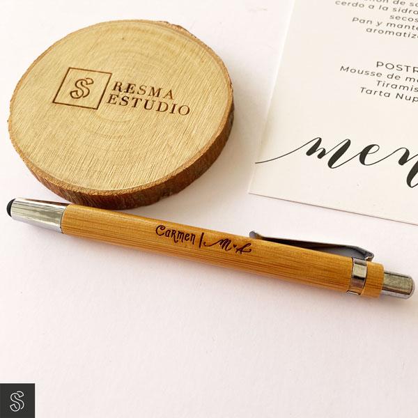 bolígrafo de bambú marca sitios seating