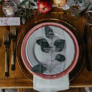 menu boda romántica