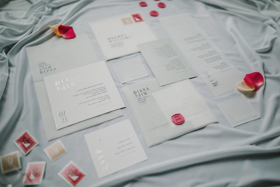 invitaciones de boda minimalista y elegante