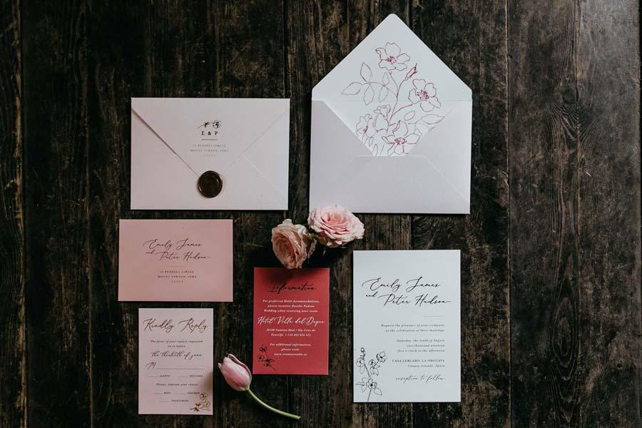 Invitaciones boda romantica