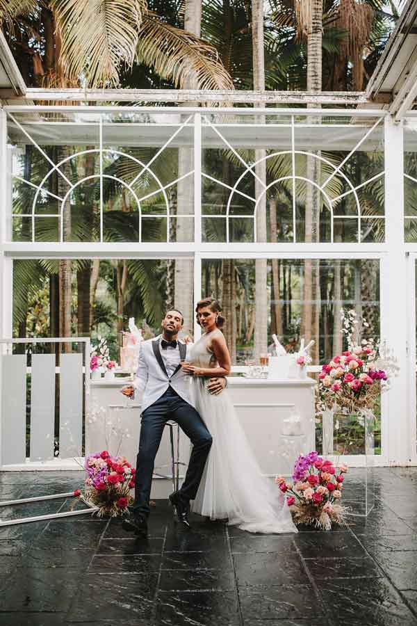 rincón de boda minimalista