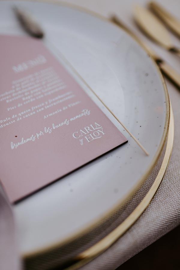 menu mesa luxury rosa