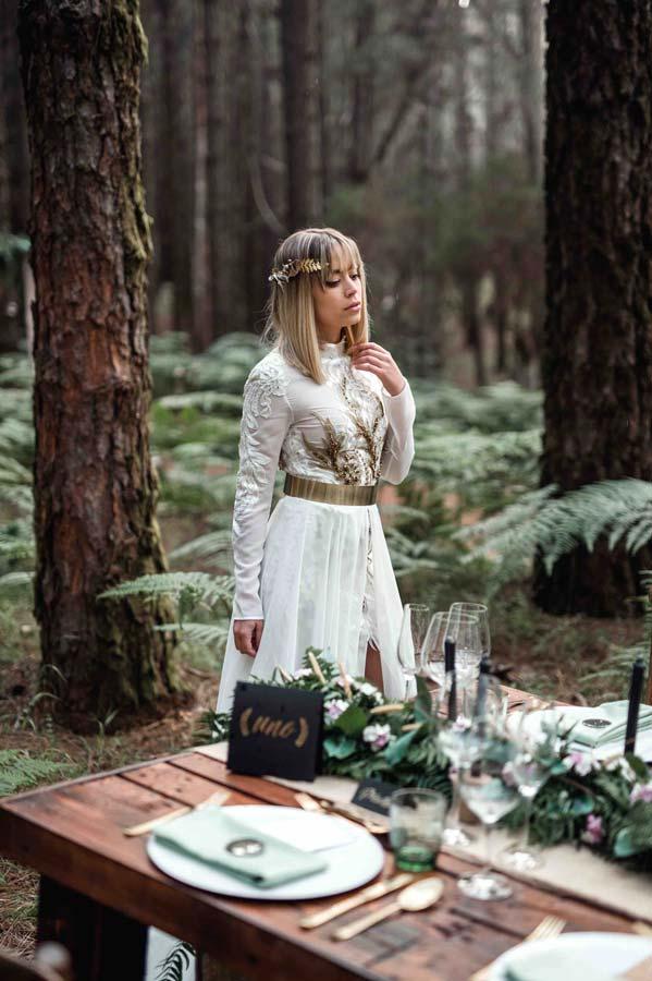 Conjunto de Papeleria de boda de inspiración vegetal y dorado