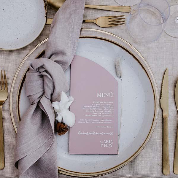 boda luxury menu de mesa