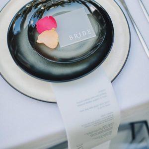 mesa boda minimalista
