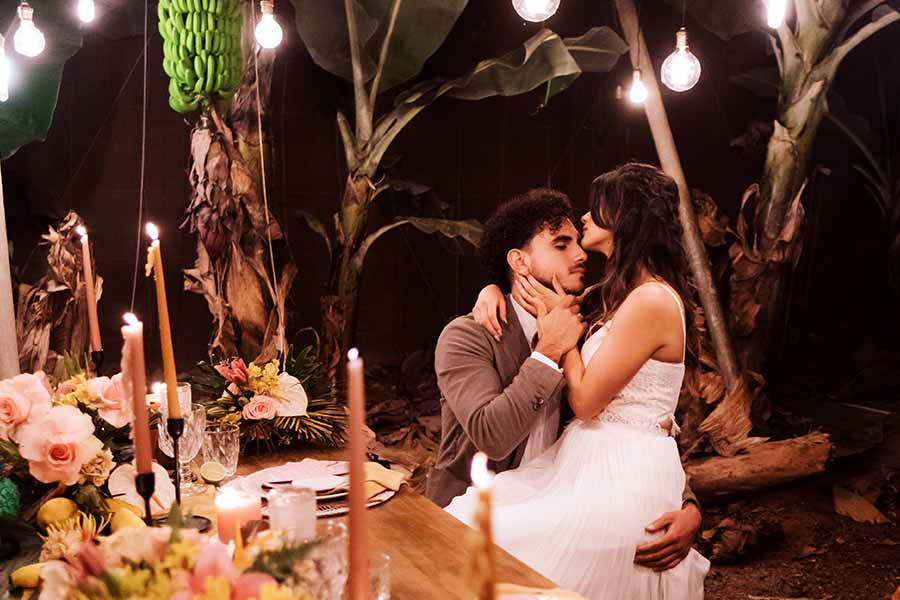 boda fresca y tropical